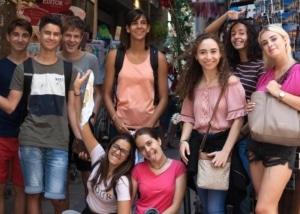 High school international students group