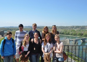 group of international high school students