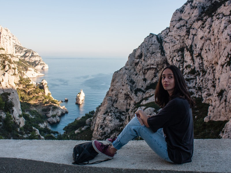 student in calanques Marseille