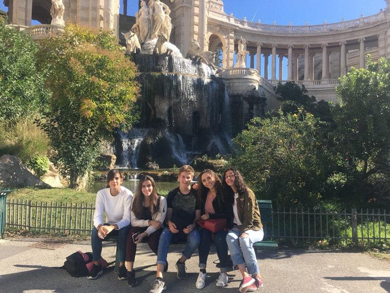 Internatinal high school students in Marseille