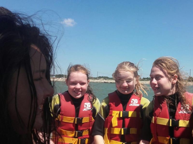 Echange student water sport activity