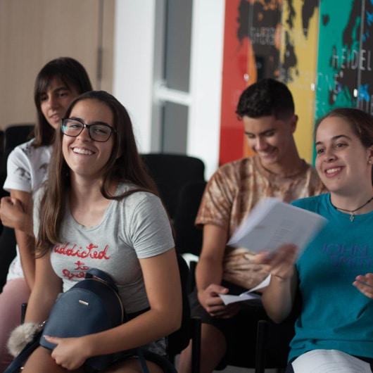 High school exchange students arrival